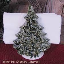 ceramic tree or pine tree napkin holder or mail holder