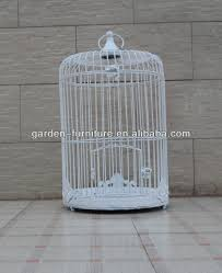 garden decor vintage painted white bird cage decorative bird