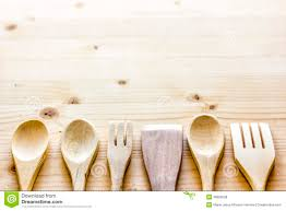 table with wooden spoons royalty free stock photos image 38683928