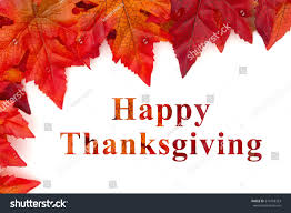 happy thanksgiving greeting some fall leaves stock photo 514318363