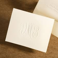 embossed note cards traditional monogram embossed foldover note cards cards and such