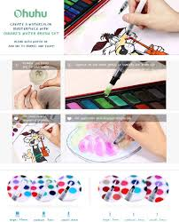 amazon com ohuhu water coloring brush pens set of 6 brush tips
