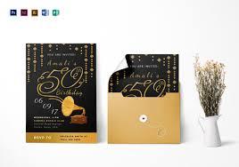 45 50th birthday invitation templates u2013 free sample example