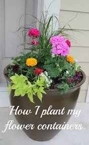 how i planted my front door flower planter container plants