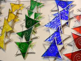 Stained Glass Christmas Craft Fair Ornaments Shattered By