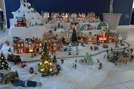 snow village halloween xmas village display setups gene u0027s snow village pictures it