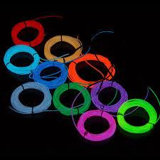 3m Cool 10 Colors Led El Wire Tube Flexible Neon Glow Car