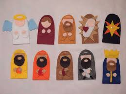 diy felt nativity finger puppets with pattern finger puppet