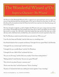 the wizard in the wizard of oz worksheet education com