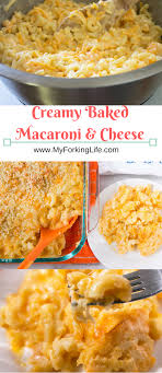 baked macaroni and cheese side dish for