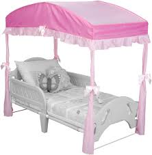 How To Convert A Crib To A Bed by Amazon Com Delta Children Girls Canopy For Toddler Bed Pink
