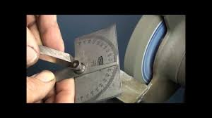 thread cutting on the lathe part three grinding the tool youtube