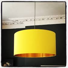 sunshine yellow lampshade with gold or copper lining lampshades