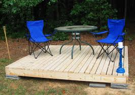 Plans For Building A Wooden Patio Table by Simple Floating Deck
