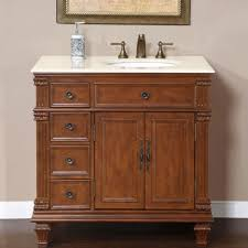 bathroom traditional bathroom design with brown wooden vanity