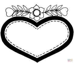 extraordinary design coloring page of a heart cute to print 3