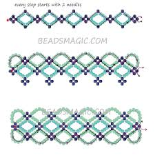 bracelet pattern tutorials images Free pattern for bracelet santorini beads magic jpg