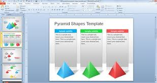 free pyramid powerpoint shapes template