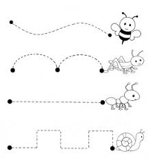 bugs trace line worksheet crafts and worksheets for preschool