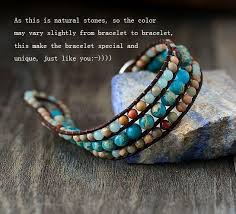 leather jewelry cuff bracelet images Unique japser leather cuff bracelet chakras store jpg