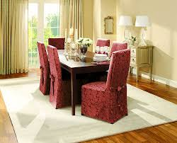 how to make dining room chair slipcovers amazon com sure fit scroll dining room chair slipcover