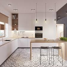 carrelage moderne cuisine ordinaire cuisine moderne design avec ilot 8 les tendances pour