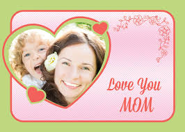 free custom photo mothers day card template in psd format free