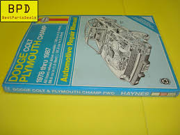 haynes 78 87 dodge colt plymouth champ repair manual 30016 ebay