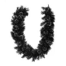 christmas garland battery operated led lights 6 x 9 battery operated black bristle artificial christmas garland