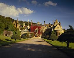 the west front of tyntesfield the victorian gothic revival house