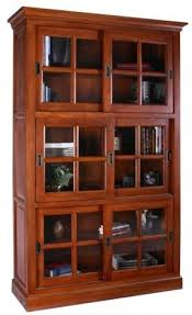 Enclosed Bookcases Sliding Glass Bookcase Foter