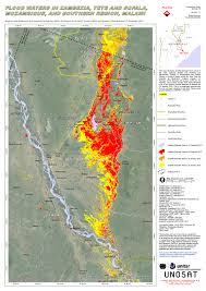 Malawi Map Flood Waters In Zambezia Tete And Sofala Mozambique And