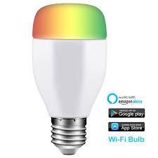 alexa light bulbs no hub us 24 99 smart wifi bulb work with alexa and google assistant