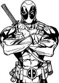 deadpool all is ok coloring page wecoloringpage