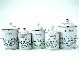 enamel kitchen canisters canister set for kitchen and vintage enamel in by