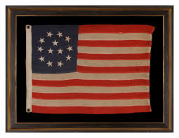 Uncommon Usa Flags Jeff Bridgman Antique Flags And Painted Furniture 13 Stars In