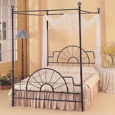 enjoy the romantic bedroom with an iron canopy bed frame homesfeed