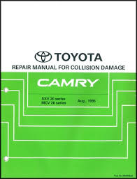 2002 toyota camry service manual 1997 2001 toyota camry collision repair shop manual original