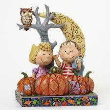 department 56 peanuts halloween enesco jim shore peanuts linus and sally pumpkin patch figurine