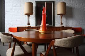 padded scandinavian teak dining room furniture for white sunroom