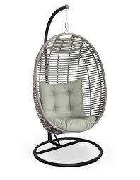 furniture sample picture of white hanging papasan chair on