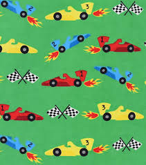 race car print cotton flannel fabric 42 u0027 u0027 joann