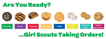 cookie is here yes it s scout cookie time squantum scoop