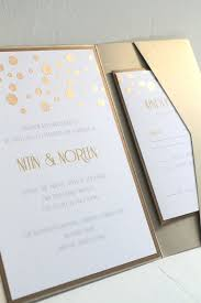 Wedding Invitation Sets Glamourous Gold Confetti Custom Pocketfold Invitation Sets