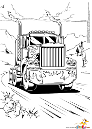 coloring pages of semi trucks eson me