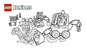 lego juniors construction site smash up coloring page coloring