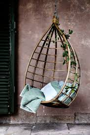 furniture hanging outdoor egg chair with rattan material