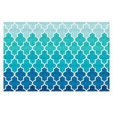 Aqua Area Rug Unique Area Rugs Organic Saturation S Aqua Ombre Quatrefoil
