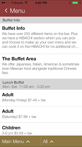 Flaming Grill And Buffet Menu by Flaming Grill U0026 Buffet Apps 148apps