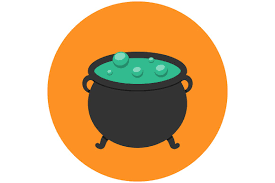 halloween witch pot witch cauldron icon flat icons creative market